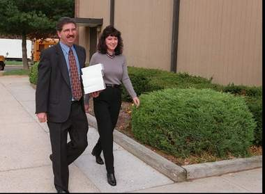 Jack Sinagra and his wife, Eileen, arriving to vote in East Brunswick in 1998