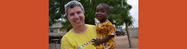 Evan Robbins, a teacher at Metuchen High School, on a recent trip to Ghana where he is rescuing children from slavery.