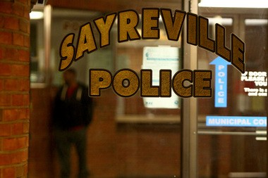 The Sayreville Police station the night seven members of the football team were taken into custody. (Saed Hindash | NJ Advance Media for NJ.com)