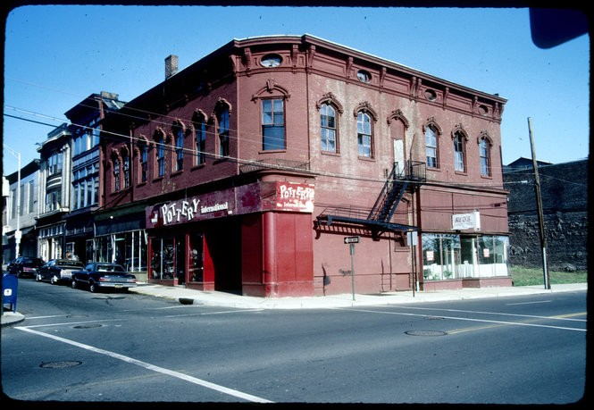 This is a photo of what became the Old Bay Restaurant in New Brunswick. This photo was taken circa May 1984. The Old Bay Restaurant sits on the corner of Church and Neilson streets. (Courtesy of the New Brunswick Public Library)