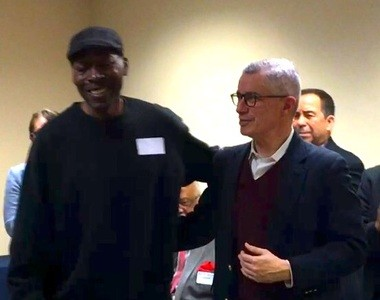 Former Gov. Jim McGreevey (right) and former inmate Kendar Hall help to open a new office Tuesday for the New Jersey Reentry Corporation in New Brunswick. (Paige Gross | For NJ.com)