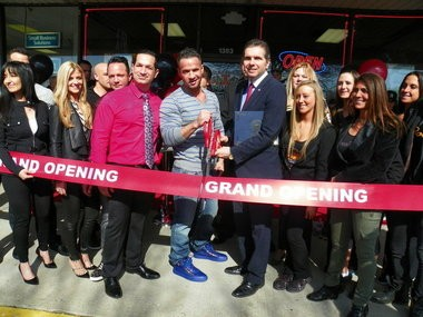 """Mike """"The Situation"""" Sorrentino was on hand for the grand opening of Boca Tanning Club, a new state-of-the-art tanning salon he will own and operate with his family in Middletown."""