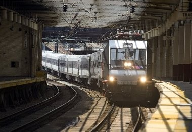 A New Jersey Transit train pulls into Newark Penn Station in this 2012 file photo.