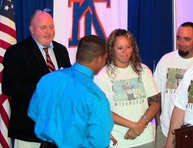 Carlos Fontanez was awarded the Drew Keough Scholarship.
