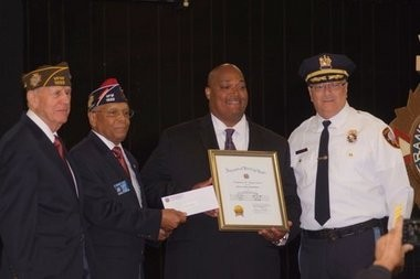Asbury Park police Patrolman Johnny Washington was given the Officer of the Year award. (Photo Courtesy of the Asbury Park Police Department)