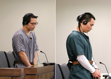 Dong Biao Lin, left, and Zeng Liang Chen, both of Manhattan, were each sentenced to life in prison by Monmouth County Superior Court Judge Anthony J. Mellaci Jr. on Tuesday for the June 16, 2010 murders of Yao Chen, 39, and his 28-year-old sister, Yun Juan Chen, both of Freehold Borough.