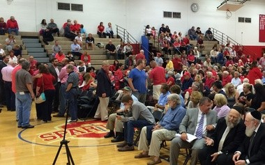 Ocean Township residents fill the high school's gymnasium, where many of the Zoning Board of Adjustment's special meetings for the yeshiva application were held last year. (Alex Napoliello | NJ Advance Media for NJ.com)