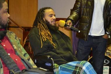 Tehvin Garrett (center) speaks about Epic Will Power at a Martin Luther King Jr. Day service in Neptune on Jan. 18, 2016. (Alex Napoliello | NJ Advance Media for NJ.com)