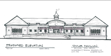Architect's rendering of the new Taylor Pavilion in Belmar.
