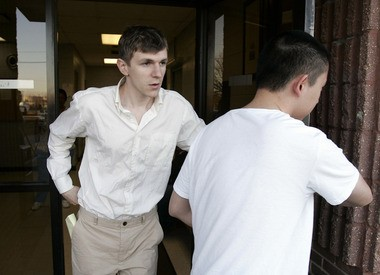 James O'Keefe as he leaves the St. Bernard Parish jail in Chalmette, La., Jan. 26, 2010. O'Keefe, a conservative activist who posed as a pimp to target the community-organizing group ACORN, is one of four people arrested by the FBI and accused of trying to interfere with phones at Sen. Mary Landrieu's office in New Orleans. (AP Photo/Patrick Semansky)