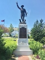"Belmar's ""Spirit of the American Doughboy,"" World War I statue has been vandalized."