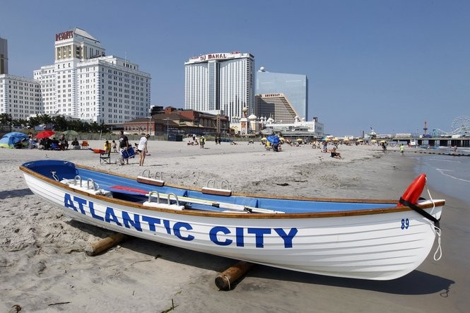 A view of Atlantic City.