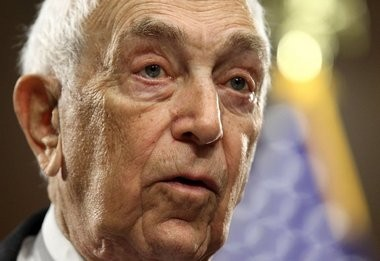 The late U.S. Sen. Frank Lautenberg speaks at a news conference in Washington, D.C., in 2011.