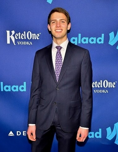 Jacob Rudolph attended the GLAAD Awards in March, to speak with young people there.