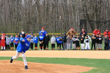 Nick Wihlborg, 10, of Stanhope, throws a pitch. He was diagnosed with acute lymphoblastic leukemia, the most common cancer in children, according to the Mayo Clinic. Tattoo fans will get inked to raise money for his treatments in August.