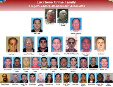 Thirty-four alleged associates of the Lucchese crime family were indicted in 2010 in what the state Attorney General's Office called Operation Heat.