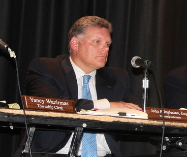 John Inglesino at a township council meeting in Parsippany, where he serves as township attorney.