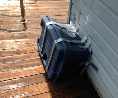 Jefferson resident Tony Colantino said local animal control officers set up modified plastic storage containers on his property as a snake trap Friday, but they were removed later that day after Fish and Wildlife officers arrived.