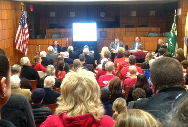 An overflow crowd turned out in September for a meeting in Kinnelon on the proposed pipeline.