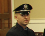 Quick action by Police Officer Mariuz Zamoksi (pictured) and athletic trainer Joe Frasciello helped save the life of a 16-year-old who went into cardiac arrest while playing basketball Saturday afternoon.