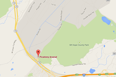 Two people were injured in an explosion at Picatinny Arsenal base Wednesday.