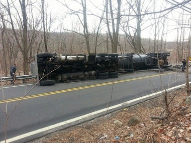 The accident was reported shortly before 11 a.m. on Green Pond Road.