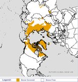 A snow cover map from the Rutgers Global Snow Lab shows snow already covered much of northern Siberia as of Oct. 15.