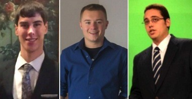 The three guys who created the SunsetWx computer model: Steve Hallett, Jacob DeFlitch and Ben Reppert. (Courtesy of SunsetWx)