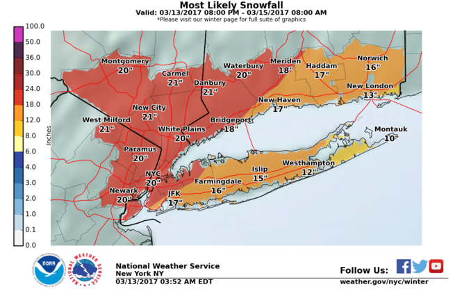Northeastern New Jersey is likely to get hit particularly hard from Tuesday's blizzard.