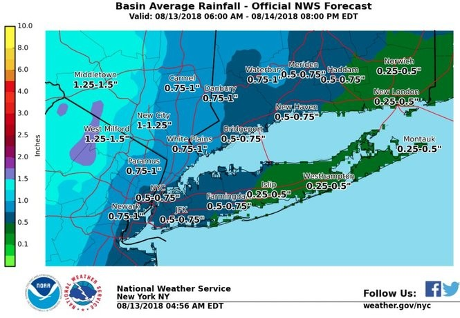 N J  weather: Flash flood warnings issued as round of strong