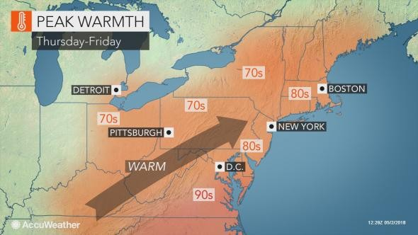 N J  weather: Possible early-May heat wave could break