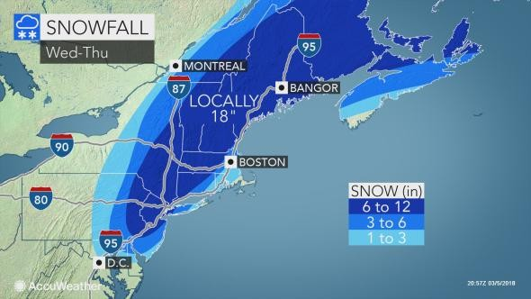 N J  weather update: Foot of snow possible as forecast