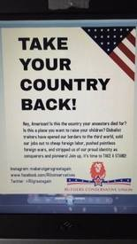 A flier created by the Rutgers Conservative Union.