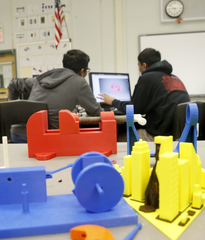 Students work in a freshman computer-aided design class at Morris County's Academy for Math, Science and Engineering in Rockaway on March 24, 2017. Students must apply and take an entrance exam to get into the highly-rated school, which is run by the county vo-tech district. (Aristide Economopoulos | NJ Advance Media for NJ.com)