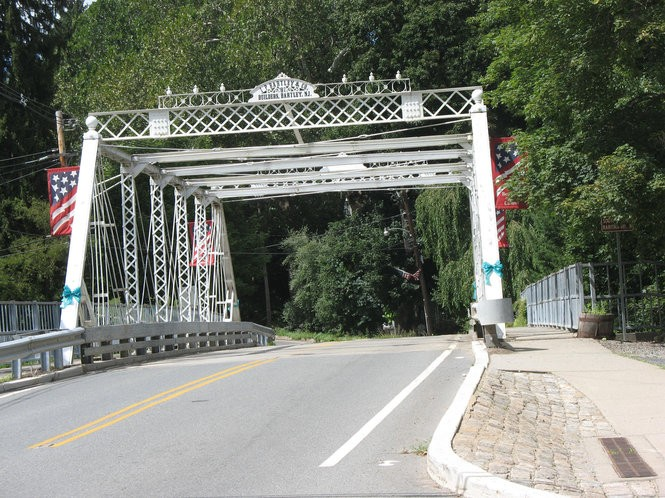 """A bridge in Califon in Hunterdon County that may have been the inspiration for the bridge George stands on in """"The Greatest Gift,"""" the story that inspired the film """"It's a Wonderful Life."""""""