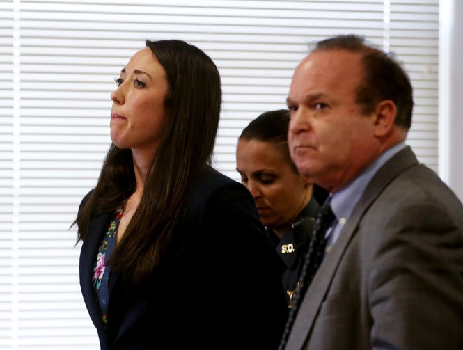 Jenna Leahey, a former teacher at Parsippany Hills High School admitted to sexting with a male student, at her sentencing in 2017. She was among the teachers from Morris County who lost their teaching credentials last year. (Ed Murray | NJ Advance Media for NJ.com)