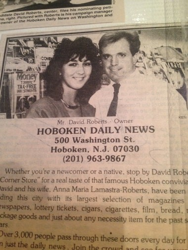 An article about Dave Roberts and his late wife when they ran the newsstand.