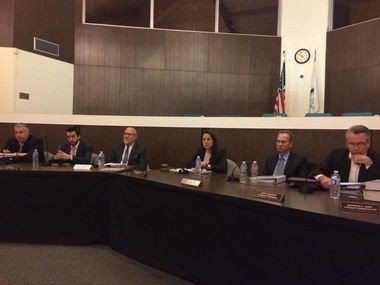 Members of the West Deptford Township Committee at a recent meeting.