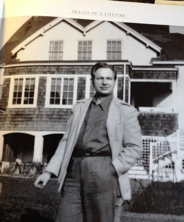 """A photo of a page from the book """"Images of a Lifetime."""" The house behind Hubbard is across the street from 666 East Ave."""
