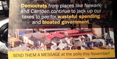 The mailer being sent out by Republicans: Did anyone send the governor a copy?