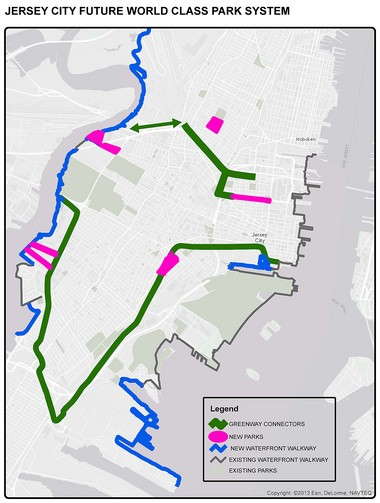 An east-t0-west greenway would connect the city's parks.