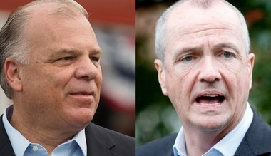 Shake hands and come out fighting: Steve Sweeney and Phil Murphy