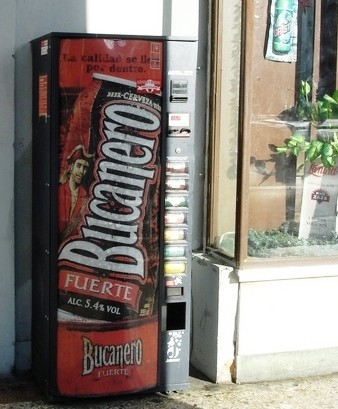 Even Cuba is freer than New Jersey: A beer vending machine on the streets of Havana
