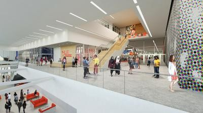 NJIT's new Wellness & Events Center is scheduled to open this fall on the school's University Heights campus.