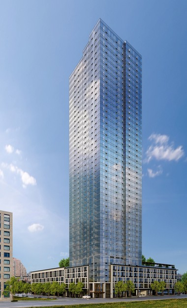 Vantage is a 448-unit building created by Fisher Development Associates in the Liberty Harbor North neighborhood of Jersey City. The 45-story waterfront tower features studio, one- and two-bedroom residences.