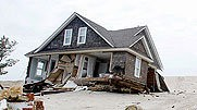 A destroyed house in Mantoloking: Don't tell the Sierra Club, but this is what happens when you don't have a sea wall.