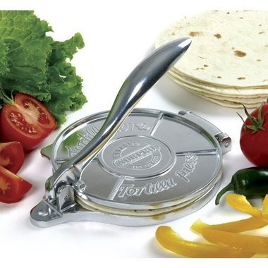 Tortilla press from Chef's Central, $24.95. (Handout)