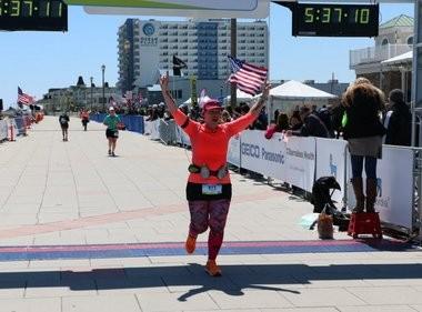 North Arlington's Sandy Deane ran her first marathon on April 26, 2015 after losing more than 100 pounds. (Rob Spahr | NJ Advance Media for NJ.com)