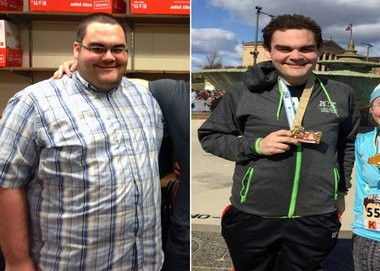Union Beach's Rob Hoffman completed the New Jersey Half Marathon on April 26, 2007 after losing more than 220 pounds. (Courtesy of Rob Hoffman)