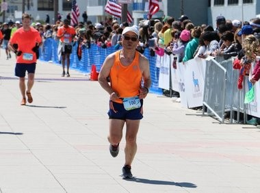 Leonia's Dan Oh ran his 100th marathon on April 26, 2015 after taking up running to help battle health issues, including diabetes. (Rob Spahr | NJ Advance Media for NJ.com)